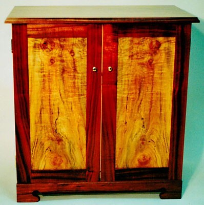 Entertainment Center <br /> Figured Koa and Big Leaf Maple<br /> 50W x 30D x 30H
