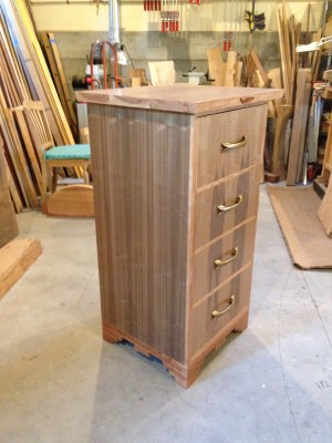 Four Directions - Walnut and cherry . with oak drawers.  24.5Wx45Hx21.5d